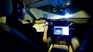 Mobileye fournit une technologie qui permet le développement des voitures autonomes. (Crédit : Moshe Shai/Flash90)