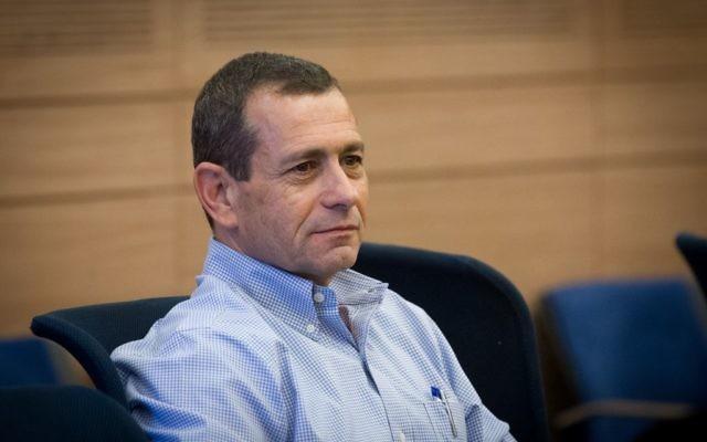 Nadav Argaman, directeur du Shin Bet, devant la commission de la Défense et des Affaires étrangères de la Knesset, le 12 juillet 2016. (Crédit : Miriam Alster/Flash90)