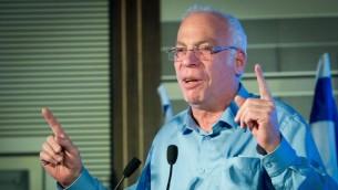 Le ministre de l'Agriculture, Uri Ariel, pendant la 14e conférence annuelle de Jérusalem du groupe 'Besheva', le 12 février 2017. (Crédit : Yonatan Sindel/Flash90)