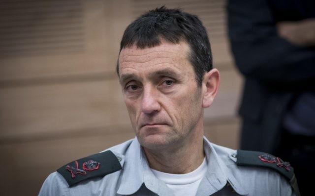 Le général de division Herzl Halevi, chef des Renseignements militaires, devant la commission des Affaires étrangères et de la Défense de la Knesset, le 1er mars 2017. (Crédit : Yonatan Sindel/Flash90)