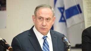 Le Premier ministre Benjamin Netanyahu à Eilat, dans le sud d'Israël, le 7 mars 2017. (Crédit : Yair Sagi/Pool)