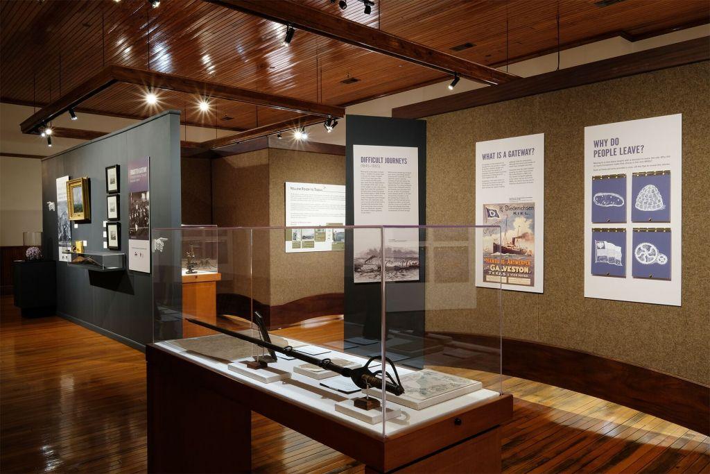 L'exposition 'Forgotten Gateway' au Bryan Museum de Galveston, au Texas. ( Crédit : Bryan Museum)
