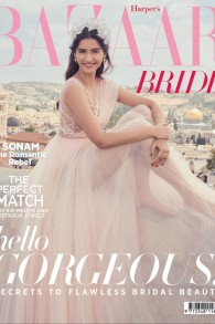 Sonam Kapoor en couverture du Harper's Bazaar Bride, édition de juin-juillet 2016 (Crédit : Harper's Bazaar Bride)