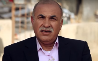 Juma Azbarga, député du parti Balad de la Liste arabe unie. (Crédit : capture d'écran YouTube)
