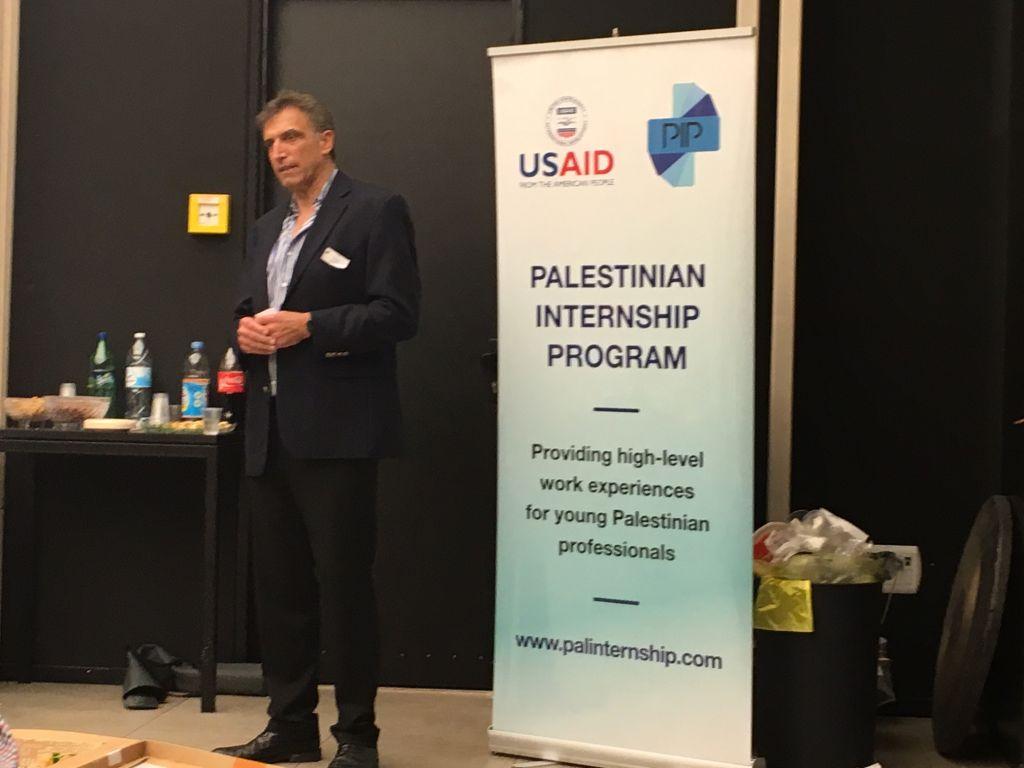 Le président et le fondateur du PIP, Yadin Kauffman, qui est également le co-fondateur de Sadara Ventures / Middle East Venture Capital Fund, le premier fonds investissant dans les sociétés technologiques palestiniennes (Crédit : Autorisation)