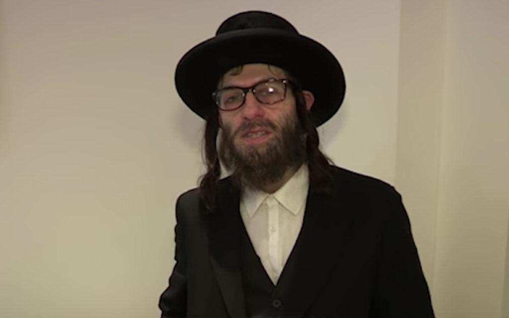Simon Brodkin, déguisé en rabbin orthodoxe pour une audition de 'Britain's Got Talent.' (Crédit : YouTube/via JTA)