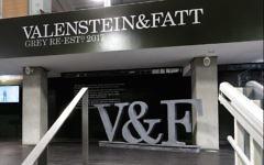Les bureaux de l'agence de publicité du groupe Grey Global rebaptisés Valenstein & Fatt, mars 2017. (Crédit : Twitter via JTA)