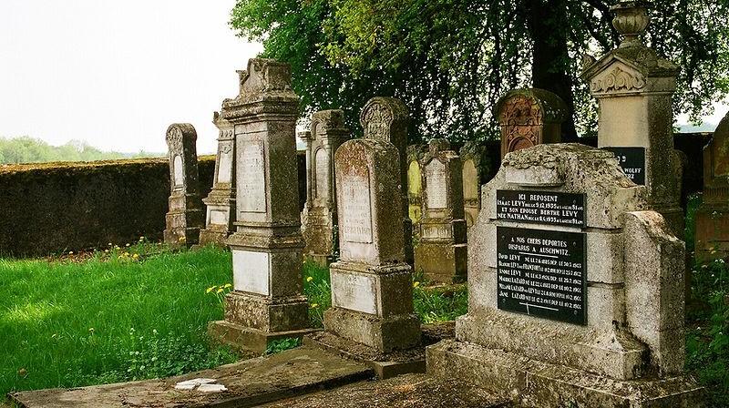 Le cimetière juif de Waldwisse (Crédit : CC BY-SA 3.0 Dguendel/Wikipedia)