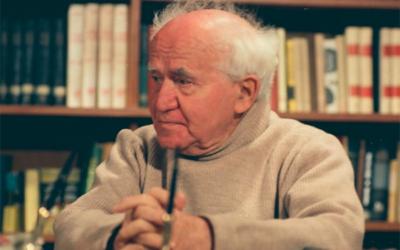 David Ben Gourion lors  de son interview, dans sa maison de Sde Boker en 1968 (Crédit: festivaldufilmisraelien)