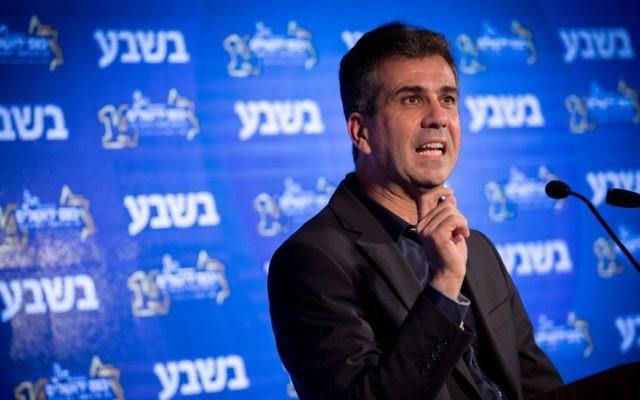 Le ministre de l'Économie et de l'Industrie Eli Cohen lors de 14ème conférence annuelle du groupe  'Besheva' ,le 13 février 2017. (Crédit :Yonatan Sindel/Flash90)
