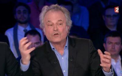 Franz-Olivier Giesbert de passage  dans l'émission de Laurent Ruquier pour son roman Belle d'amour , en mars 2017. (Crédit: capture d'écran Youtube)