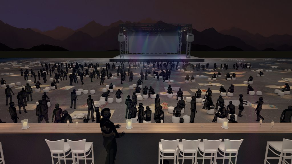 """La """"gravity zone"""" prévue pour le concert de Jean-Michel Jarre à Massada, le 6 avril 2017. (Crédit : autorisation)"""