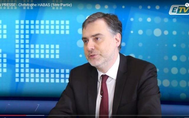 Christophe Habas, grand maître du Grand Orient de France. (Crédit : capture d'écran YouTube)