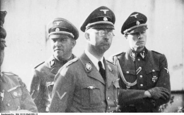 Heinrich Himmler, chef des SS, en 1940. (Crédit : domaine public)