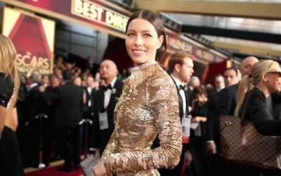 Jessica Biel à la 89e cérémonie des Oscars à Hollywood, en Californie, le 26 février 2017. (Crédit : Christopher Polk / Getty Images)