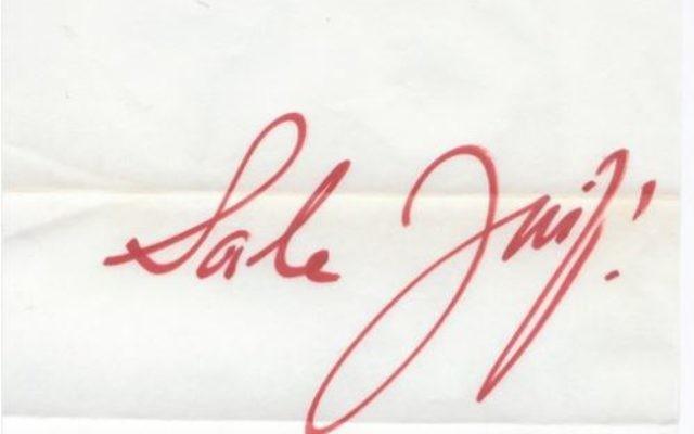 Une lettre antisémite adressée en 1958 à Mendès-France, mise en ligne par son petit-fils, Trsitan (Crédit: capture d'écran Twitter/ Tristan M.F.)