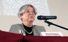 La politologue Dominique Schnapper, en 2011, lors d'une allocution à la Fondapol (Crédit: T. Morlier)