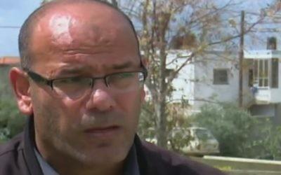 Abed al-Basat,prisonnier sécuritaire palestinien membre du Hamas. (Crédit : capture d'écran Deuxième chaîne)