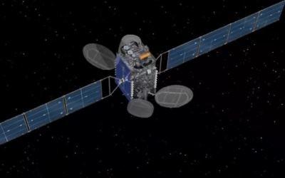 Le satellite Amos-7, un AsiaSat-8 modifié. (Crédit : capture d'écran YouTube)