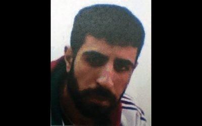 Yousef Yasser Sueilem, 23 ans, arrêté par le Shin Bet pour avoir planifier des opérations de kidnapping pour le Hezbollah. (Crédit : Shin Bet)