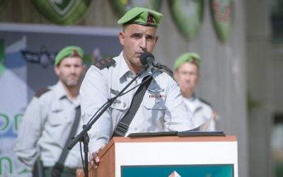Le commandant sortant de la brigade Nahal, colonel Amos Hacohen (crédit : Armée israélienne)