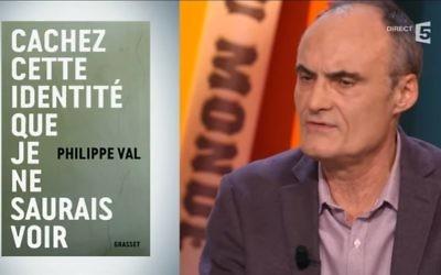 Philippe Val, présente son dernier ouvrage dans l'émission La Grande Librairie (Crédit: capture d'écran Youtube/LGL)