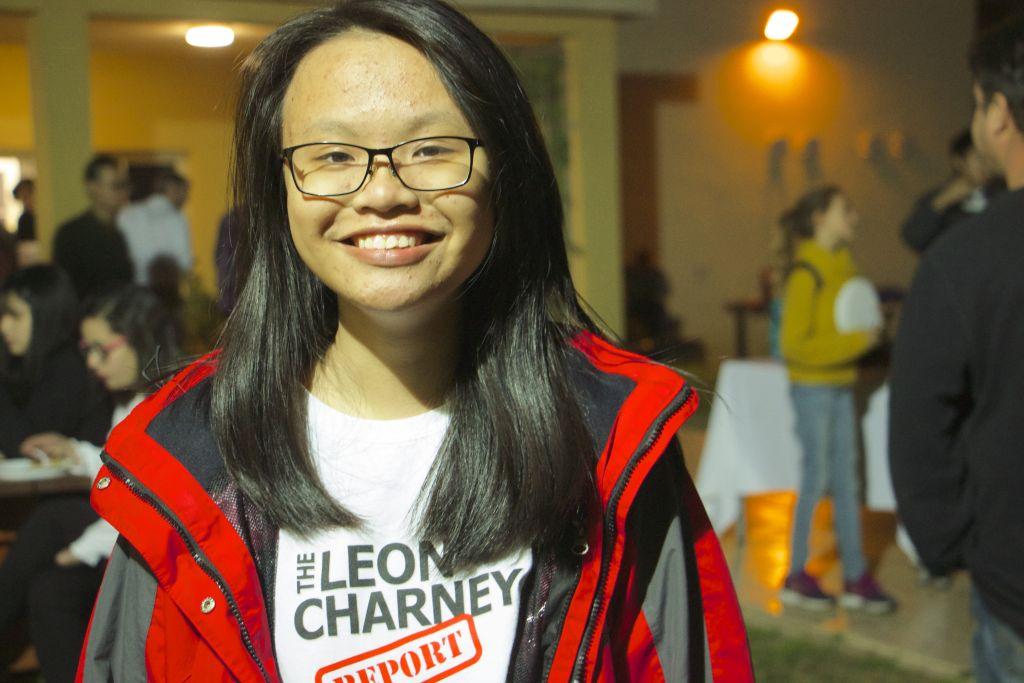 Khanh, 16 ans et originaire du Vietnam, étudie à l'Eastern Mediterranean International Boarding School (EMIS) à Kfar Hayarok, et à participé la simulation des négociations de paix, le 2 mars 2017 . (Crédit : Dov Lieber / Times of Israel)