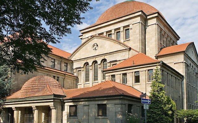 La synagogue Westend de Francfort, en Allemagne. (Crédit : Wikimedia Commons)