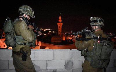 Soldats  de l'unité d'élite Duvdevan en Cisjordanie. Photographie non datée. Illustration. (Crédit : unité des porte-paroles de l'armée israélienne)