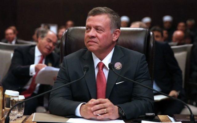 Le roi Abdallah II de Jordanie (Crédit : Khalil Mazraawi/AFP)