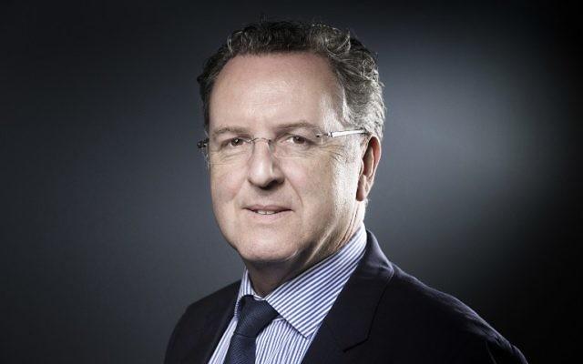 Richard Ferrand, député du Finistère et secrétaire général d'En Marche !, à Paris, le 18 avril 2017. (Crédit : Joël Saget/AFP)
