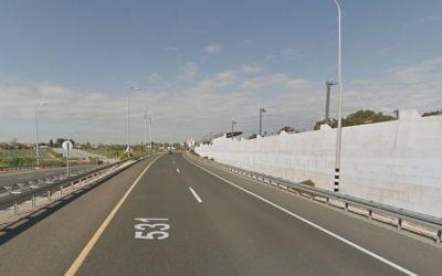 La route 531, dans le centre du pays. (Crédit : capture d'écran Google Street View)