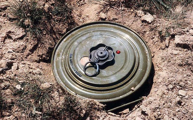 Illustration d'une mine terrestre TM-46 (Crédit : PD-USGov-Military/ domaine public)