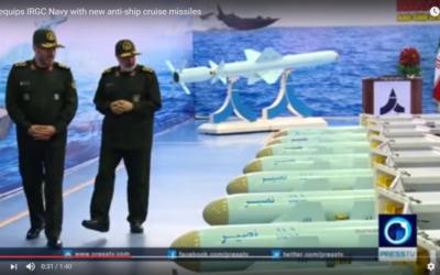 Le nouveau missile iranien Nasir (Capture d'écran : Youtube)