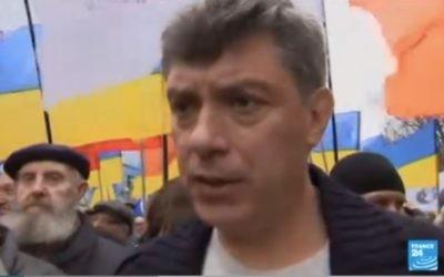 Boris Nemtsov (Crédit : capture d'écran France 24)