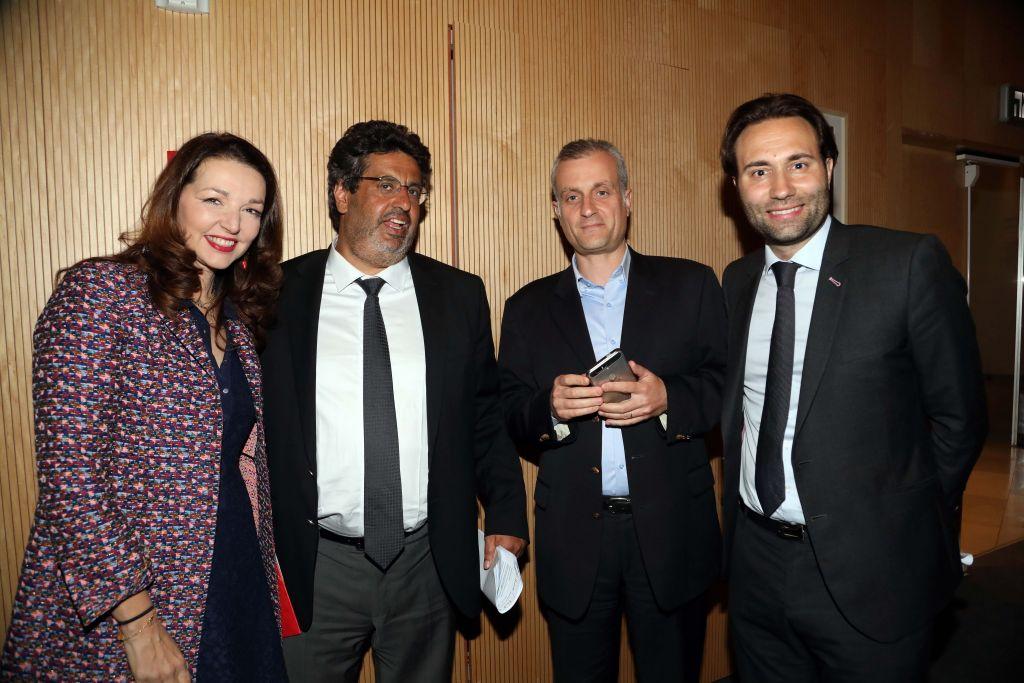 Les participants au meeting de soutien pour François Fillon à Tel Aviv, le 21 avril 2017, en Israël (Crédit : Gideon Markowicz)