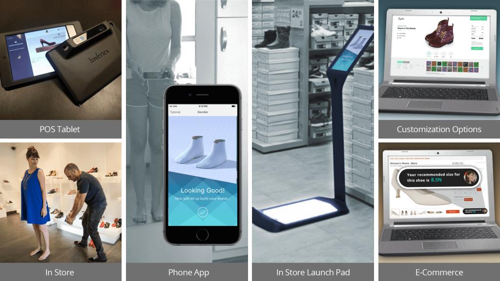 Invertex utilise l'imagerie 3D et l'Intelligence Artificielle pour suggérer des chaussures adaptées (Crédit : Autorisation)