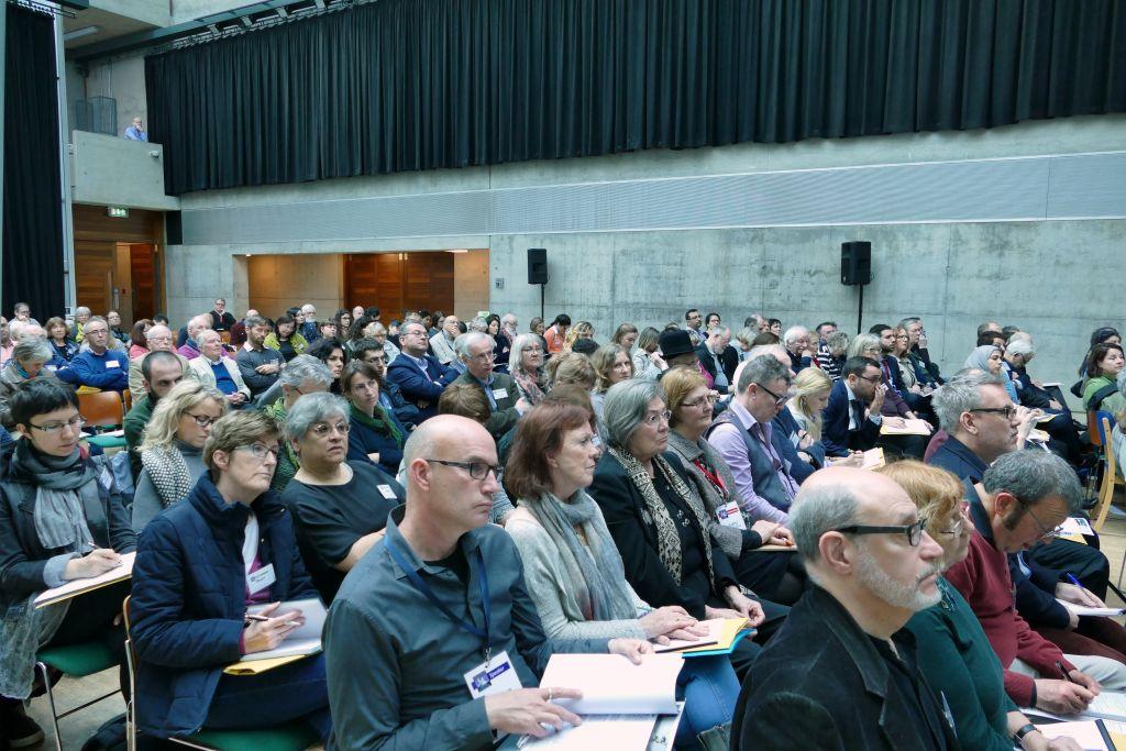 Des participants au congrès anti-Israël à l'University College Cork, en Irlande, du 21 mars au 2 avril 2017. (Crédit : autorisation)