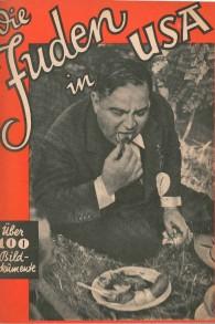 La couverture du livre de propagande antisémite nazi, « Juden in den USA » ou « Les Juifs aux Etats-Unis », qui contient des photos prises par l'AP. (Crédit : Scharnberg)