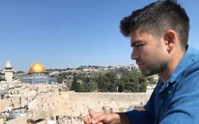 Adrian Grenier à Jérusalem en mars 2017. (Crédit : Instagram)