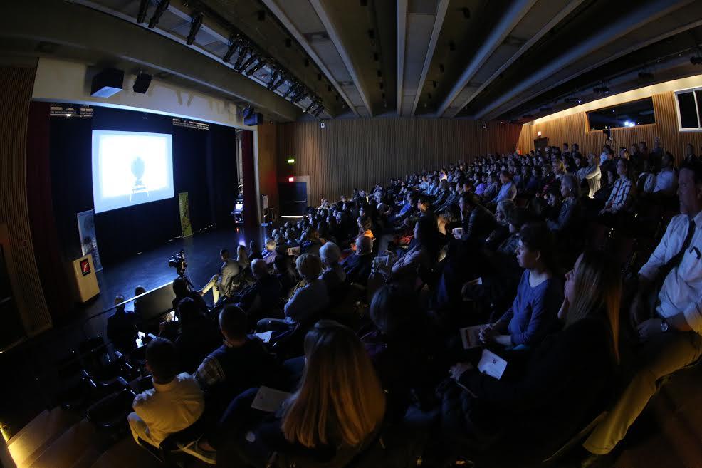 """La projection de """"Life, Animated"""" au Festival du film ReelAbilities au musée des Sciences de Boston, le 29 mars 2017. (Crédit : MSB)"""