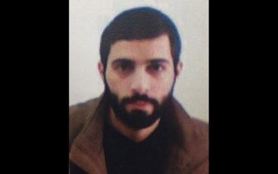 Malek Nizar Yousef Qazmar, inculpé pour avoir prévu des attentats terroristes en Israël au nom du Hamas, en avril 2017. (Crédit : Shin Bet)