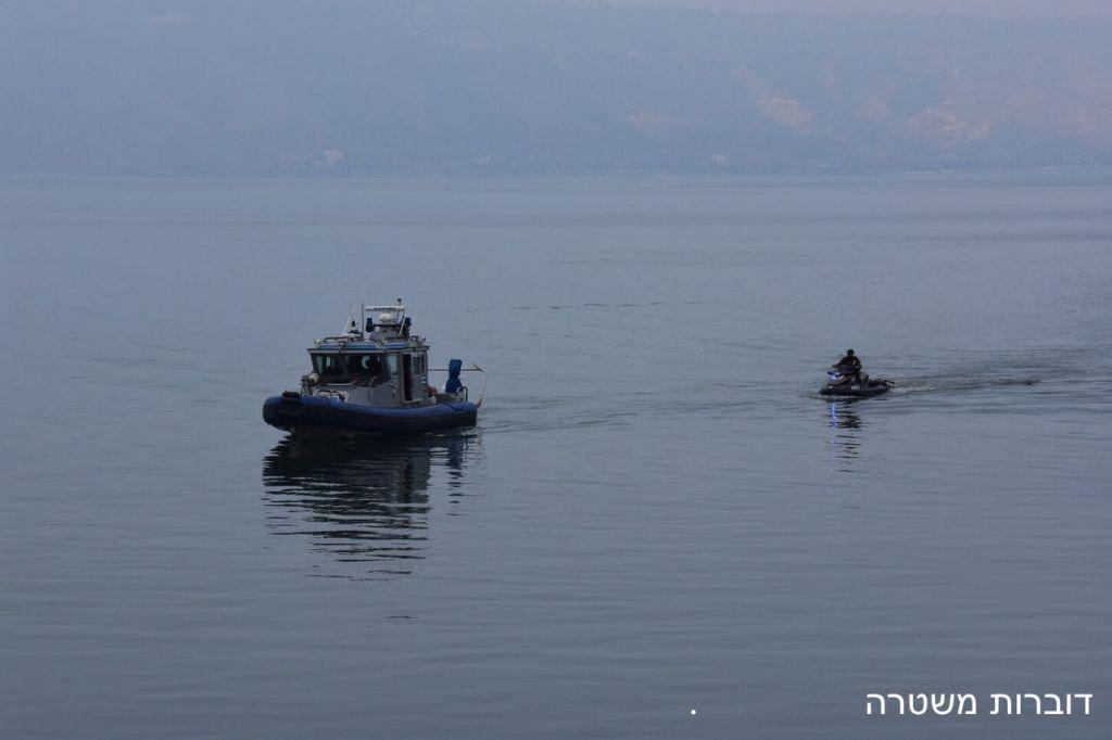 La police tente de retrouver trois jeunes hommes qui ont disparu au lac de Tibériade, le 16 avril 2017. (Crédit : porte-parole de la police)