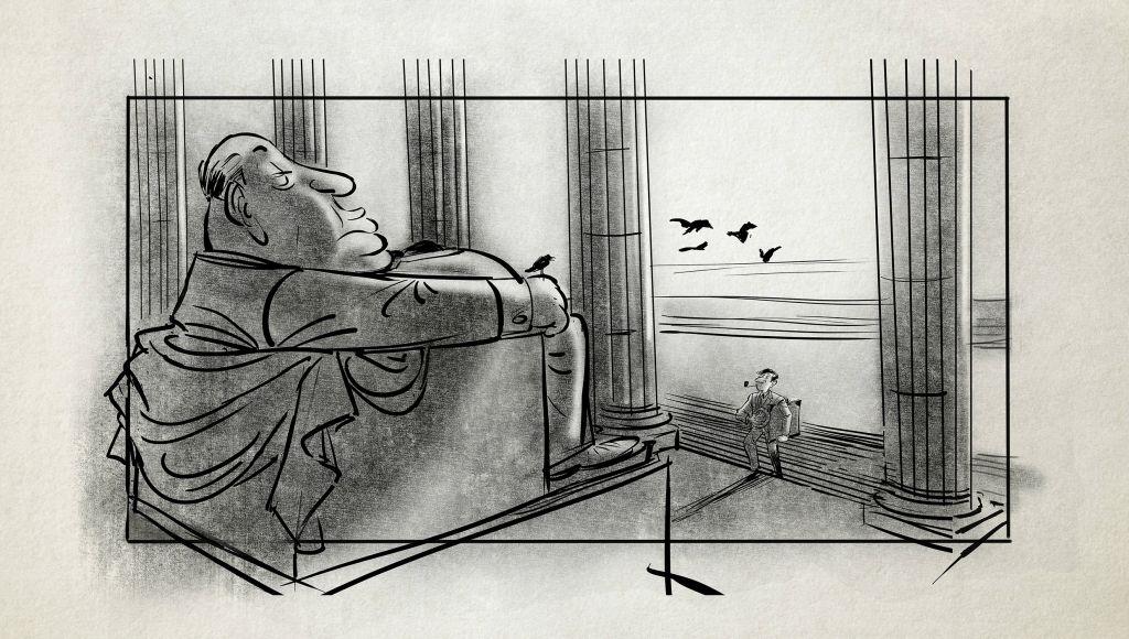 Un dessin de storyboard réalisé par Patrick Mate de 'Harold and Lillian' (Zeitgeist Films)