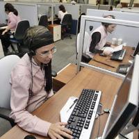 Une entreprise du secteur high-tech qui emploie des femmes ultra-orthodoxes à Modiin Elit, le 17 août 2009 (Crédit : Abir Sultan/Flash 90)