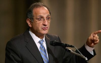 James Zogby à Washington, D.C., en octobre 2012. (Crédit : Chip Somodevilla/Getty Images)