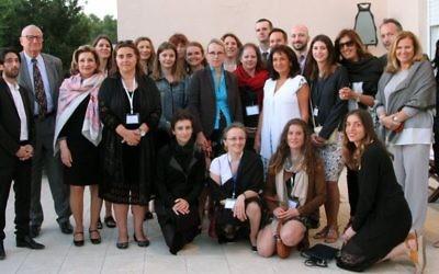 Le voyage en Israël de descendants de Justes parmi les Nations est organisé par la Fondation France-Israël. (Crédit: Elodie Sauvage / Ambassade de France en Israël)