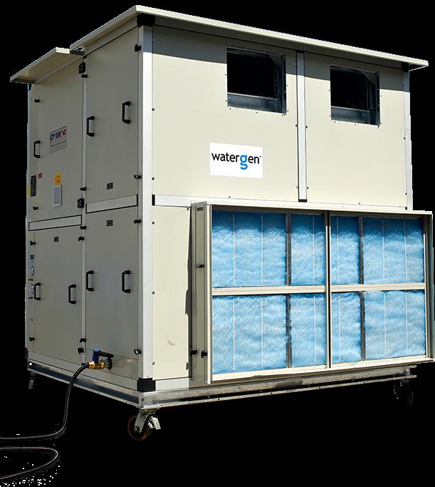 Le générateur d'eau potable à grande échelle de Water-Gen. (Crédit : Water-Gen)