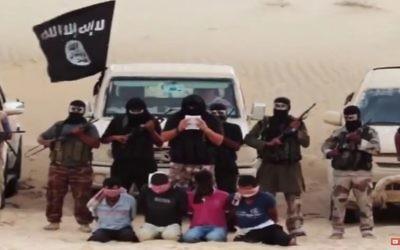 Le groupe terroriste Péninsule du Sinaï, affilié de l'Etat islamique, détient des chrétiens coptes égyptiens en otage. Illustration.(Crédit : capture d'écran YouTube)