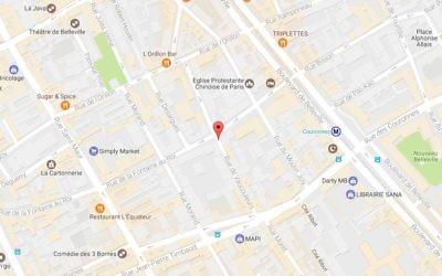 La rue Vaucouleurs dans le XIe arrondissement de Paris (Crédit : capture d'écran Google Map)